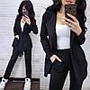 Костюм штани висока талія і піджак замша, фото 3