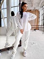 Теплый женский костюм вязаные штаны и кофта шерсть, фото 2