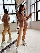 Теплый женский костюм вязаные штаны и кофта шерсть, фото 3