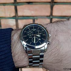 Мужские наручные часы серебристые в стиле Tissot. Годинник чоловічий