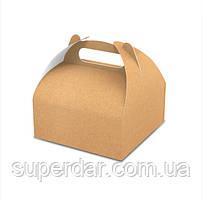 Упаковка для кондитерських виробів, 160х160х70 мм, крафт (ящ.:400 шт)