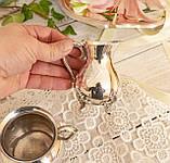 Посеребренный молочник и сахарница на ножках, серебрение, мельхиор, VINERS, Тайвань, фото 9