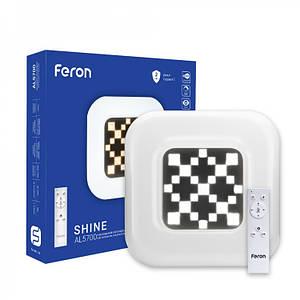 Люстра светодиодная квадратная Feron AL5700 SHINE 80W