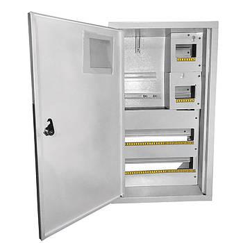 Щит под 3ф электрический счетчик на 36 автоматов наружный (ЛОЗА) размеры: 544х315х120