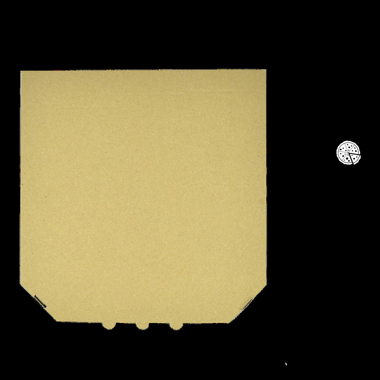 Коробка для пиццы, 32 см бурая, 320*320*35, мм (1уп/50шт)