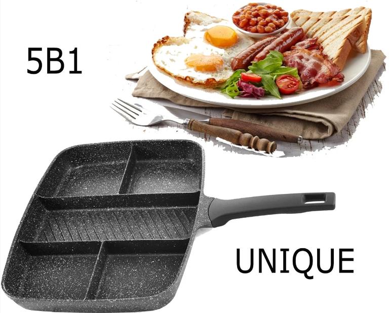 Сковорода UNIQUE UN-4021 5в1 31см