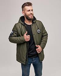 Зимняя мужская теплая куртка цвета хаки. Размер 46(S), 48(M), 50(L), 52(XL), 54(XXL)