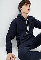 Спортивный костюм мужской худи+штаны темно-синий