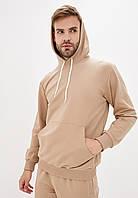 Спортивный костюм мужской худи+штаны бежевый