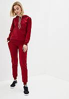 Спортивный костюм женский худи+штаны бордо