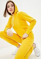 Спортивный костюм женский худи+штаны желтый