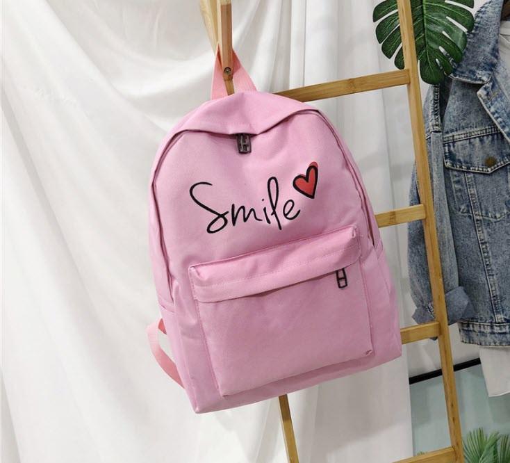 Стильные тканевые рюкзаки для школы Smile