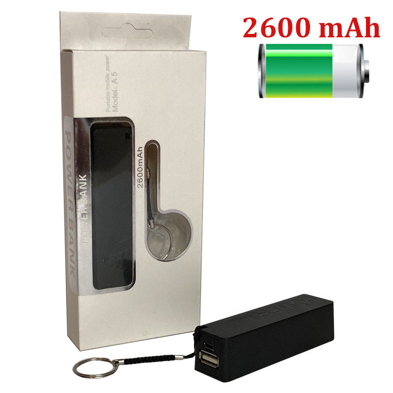 Внешний аккумулятор Power Bank Брелок 2600 mAh индикатор мини USB зарядное устройство повер банк