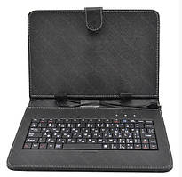 Обложка чехол с клавиатурой Bluetooth Keyboard 9 micro для планшетов