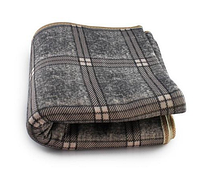 Электропростынь з сумкою electric blanket 150*120 картатий сірий