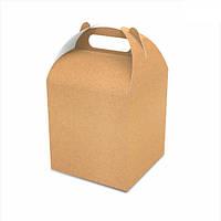 Упаковка для кондитерських виробів 120х120х162 мм, крафт (ящ.:400 шт)