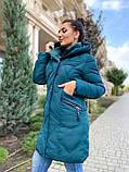 Женская зимняя куртка плащевка холлофайбер очень теплая размер: 48,50,52,54,56,58, фото 4