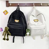 Ніжний тканинний рюкзак з вишивкою Ведмедика, фото 2
