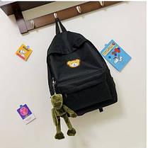 Ніжний тканинний рюкзак з вишивкою Ведмедика, фото 3