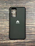 "Чехол Silicon Huawei P 40  - ""Черный №18"""