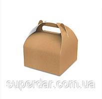 Упаковка для кондитерських виробів 116х116х64 мм, крафт (ящ.:600 шт)