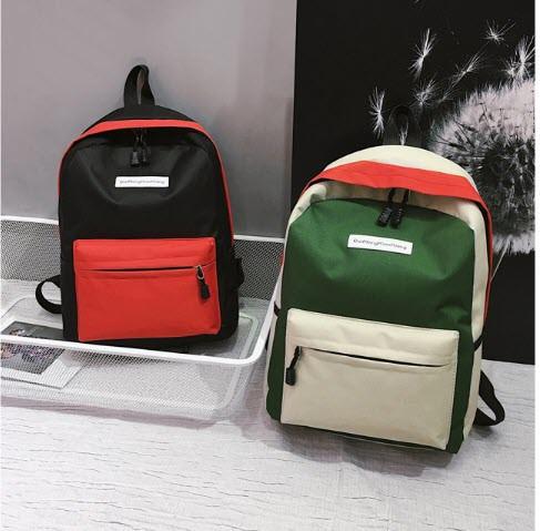 Стильні тканинні барвисті рюкзаки для школи