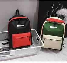 Стильні тканинні барвисті рюкзаки для школи, фото 3