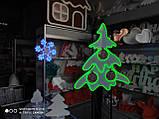 Неоновый светильник Снежинка 320х320мм, фото 3