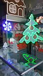 Неоновый светильник Снежинка 320х320мм, фото 4