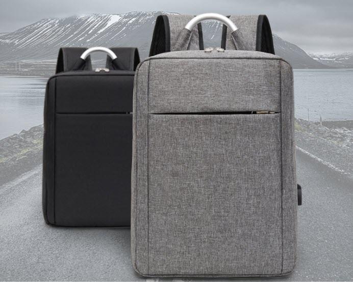 Великий тканинний чоловічий рюкзак з ручкою