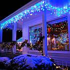 Гирлянда улица Бахрома мерцанием 120 LED, Голубая (Синяя), черный провод, 4м., фото 8