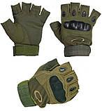 Перчатки Tactical assault черный и олива + складной ПОДАРОК АК47, фото 3
