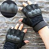 Перчатки Tactical assault черный и олива + складной ПОДАРОК АК47, фото 4