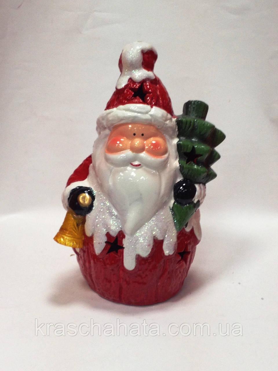 Дед Мороз, 22х14х10 см, сувенир новогодний, статуэтка, керамика, Днепропетровск