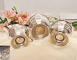 Английский посеребренный сервиз, чайник, молочник и сахарница, серебрение, Англия, фото 9