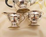 Английский посеребренный сервиз, чайник, молочник и сахарница, серебрение, Англия, фото 8