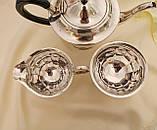 Английский посеребренный сервиз, чайник, молочник и сахарница, серебрение, Англия, фото 5