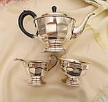 Английский посеребренный сервиз, чайник, молочник и сахарница, серебрение, Англия, фото 7