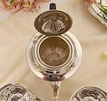 Английский посеребренный сервиз, чайник, молочник и сахарница, серебрение, Англия, фото 6
