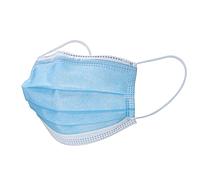 Одноразовые маски трехслойные с зажимом. Голубые (Упаковка 100 штук), фото 1