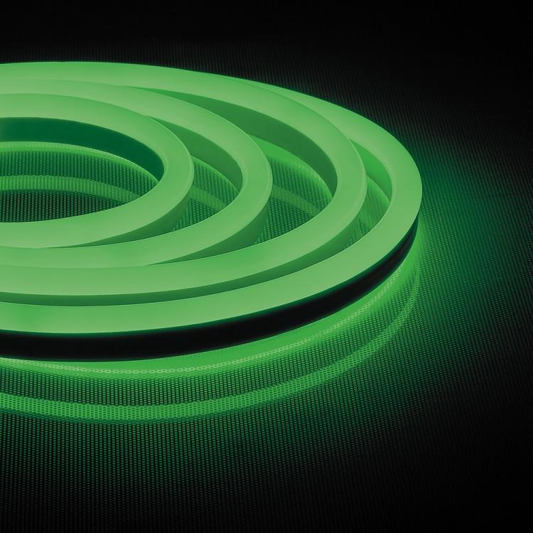 Світлодіодна неонова стрічка + комплектуючі 53-R AVT-1 NEON 220V IP65 зелений