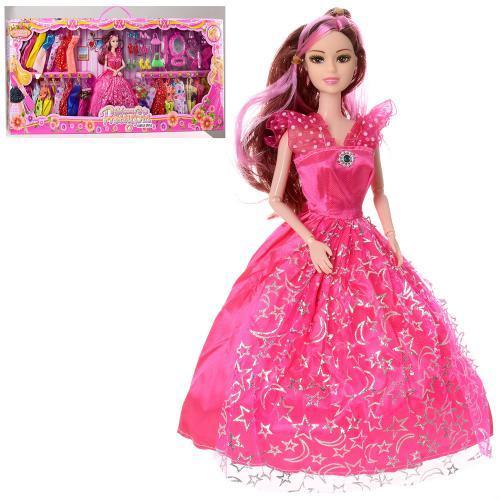 Кукла барби принцесса шарнирная с нарядами