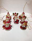 Колокольчик новогодний, подвеска, Дед Мороз, керамика, Новогодние сувениры, Днепропетровск, фото 3
