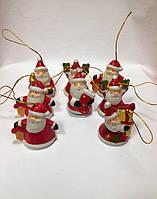 Колокольчик новогодний, подвеска, Дед Мороз, керамика, Новогодние сувениры, Днепропетровск, фото 1