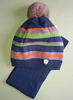 Детская зимняя шапка и шарф для мальчика