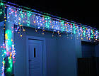 Гирлянда улица Бахрома 120 LED, Мультицветная, белый провод, 4м., фото 4