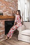 Женская пижама штанами шелковая Kaiza, фото 3