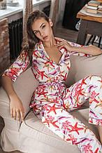 Женская пижама штанами шелковая Kaiza