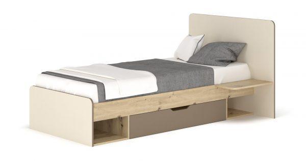 Детская кровать 900 ЛАМИ с ящиком (Мебель-Сервис)