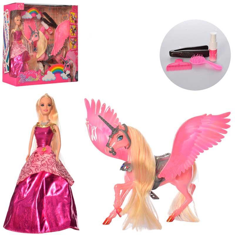 Кукла с единорогом 68269, краски и плойка